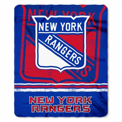 New York Rangers Fade Away Fleece Blanket