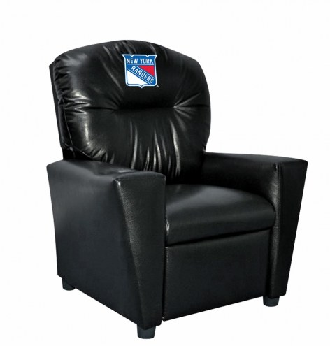 New York Rangers Faux Leather Kid's Recliner