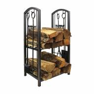 New York Rangers Fireplace Wood Holder & Tool Set