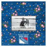 """New York Rangers Floral 10"""" x 10"""" Picture Frame"""