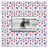 """New York Rangers Floral Pattern 10"""" x 10"""" Picture Frame"""