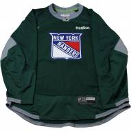 New York Rangers Forest Green Issued Shield Practice Jersey (Size 56)