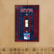New York Rangers Glass Single Light Switch Plate Cover
