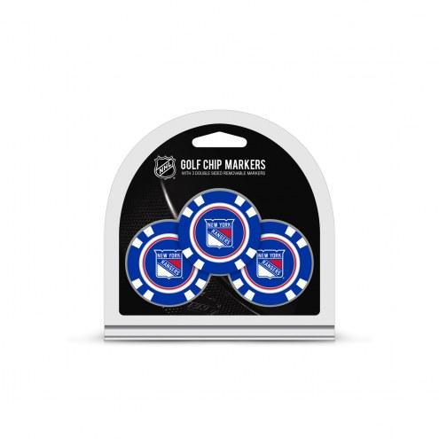 New York Rangers Golf Chip Ball Markers