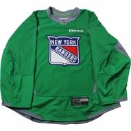 New York Rangers Green Issued Shield Practice Jersey (Size 52)