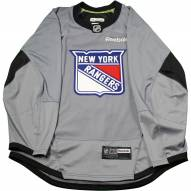 New York Rangers Grey Issued Shield Practice Jersey (Size 58)