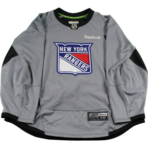 New York Rangers Grey Used Shield Logo Practice Jersey (Size 58) 305d7a20dbf