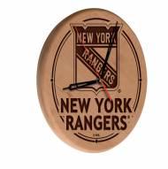 New York Rangers Laser Engraved Wood Clock