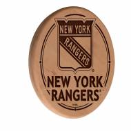 New York Rangers Laser Engraved Wood Sign