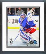 New York Rangers Henrik Lundqvist Playoff Action Framed Photo