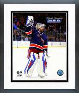 New York Rangers Henrik Lundqvist 300th NHL Win Framed Photo