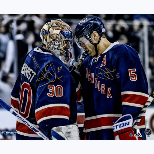 "New York Rangers Henrik Lundqvist & Dan Girardi Celebration Signed 16"" x 20"" Photo"