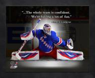 New York Rangers Henrik Lundqvist Framed Pro Quote