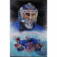 New York Rangers Henrik Lundqvist Signed Giclee 21 x 28 Stretched Canvas
