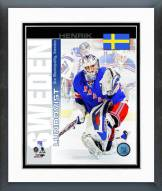 New York Rangers Henrik Lundqvist Sweden Portrait Plus Framed Photo