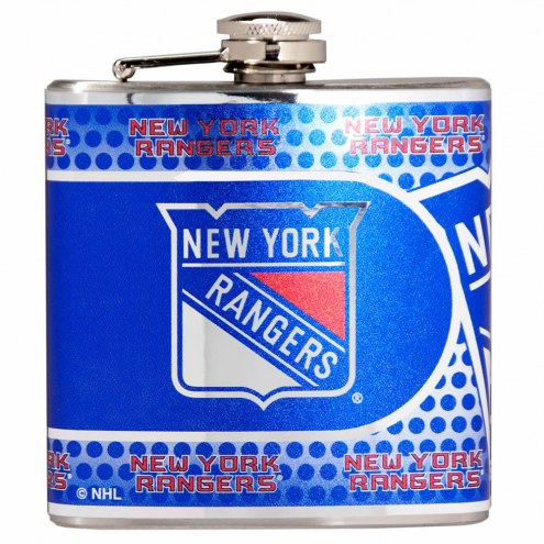New York Rangers Hi-Def Stainless Steel Flask