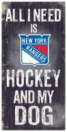 New York Rangers Hockey & My Dog Sign