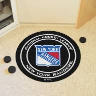 New York Rangers Hockey Puck Mat