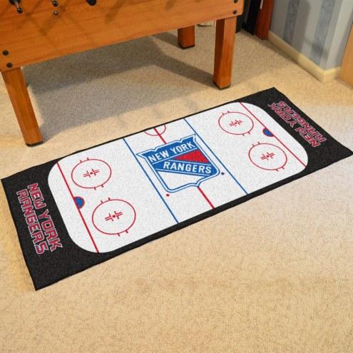 New York Rangers Hockey Rink Runner Mat