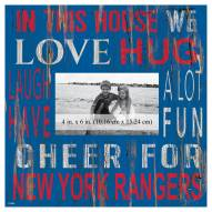 """New York Rangers In This House 10"""" x 10"""" Picture Frame"""