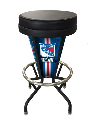 New York Rangers Indoor/Outdoor Lighted Bar Stool