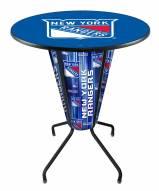 New York Rangers Indoor/Outdoor Lighted Pub Table