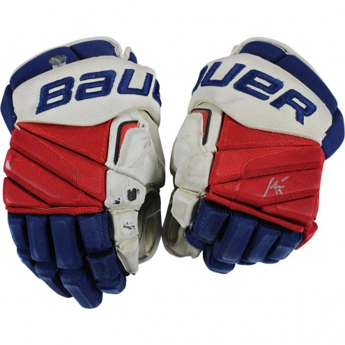 New York Rangers Jesper Fast Signed 2015-2016 Season Game Used Bauer APX2 Gloves