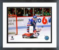 New York Rangers John Vanbiesbrouck 1990 Action Framed Photo