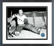 New York Rangers Johnny Bower Posed Framed Photo