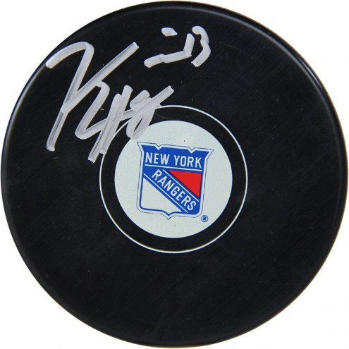 New York Rangers Kevin Hayes Signed Puck