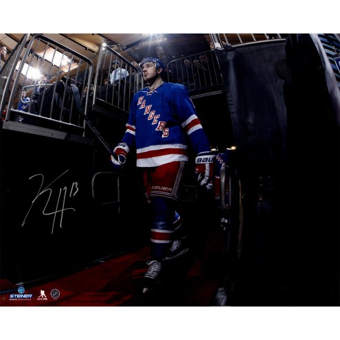 "New York Rangers Kevin Hayes Walking to the Ice Signed 16"" x 20"" Photo"