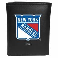 New York Rangers Large Logo Leather Tri-fold Wallet