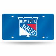 New York Rangers Laser Cut License Plate