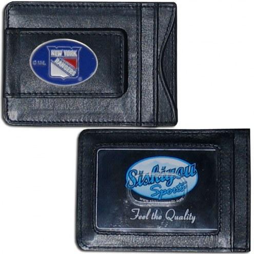 New York Rangers Leather Cash & Cardholder