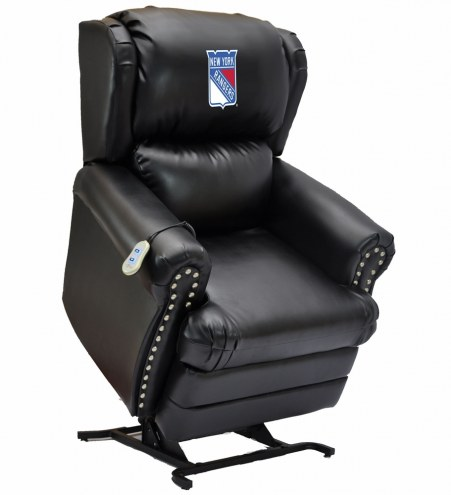 New York Rangers Leather Coach Lift Recliner