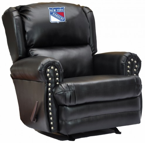 New York Rangers Leather Coach Recliner