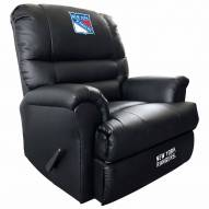 New York Rangers Leather Sports Recliner