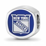 New York Rangers Sterling Silver Enameled Bead