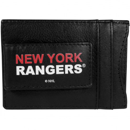 New York Rangers Logo Leather Cash and Cardholder