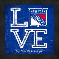 New York Rangers Love My Team Color Wall Decor
