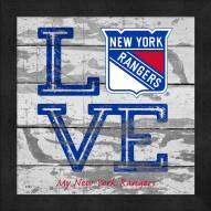 New York Rangers Love My Team Square Wall Decor