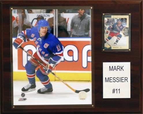 "New York Rangers Mark Messier 12"" x 15"" Player Plaque"