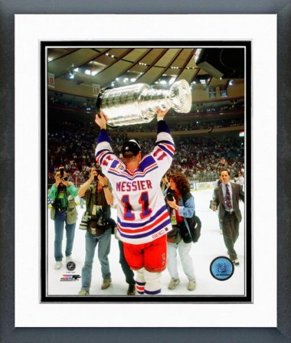 New York Rangers Mark Messier 1993-94 Stanley Cup Finals Framed Photo