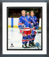 New York Rangers Mark Messier & Adam Graves Action Framed Photo