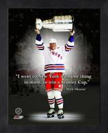 New York Rangers Mark Messier Framed Pro Quote