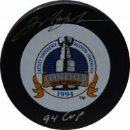 New York Rangers Mark Messier Signed 1994 Stanley Cup Puck w/ 94 Cup