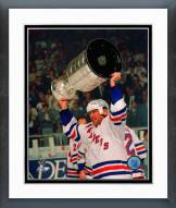 New York Rangers Mark Messier with 1994 Stanley Cup Trophy Framed Photo