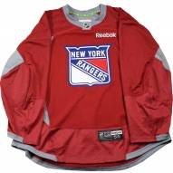 New York Rangers Maroon Issued Shield Practice Jersey (Size 56)