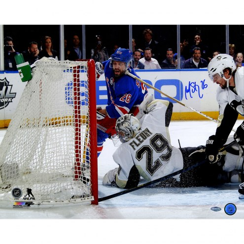 "New York Rangers Martin St. Louis Game 6 Goal vs Penguins Signed 16"" x 20"" Photo"