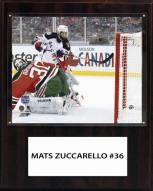 """New York Rangers Mats Zuccarello 12"""" x 15"""" Player Plaque"""